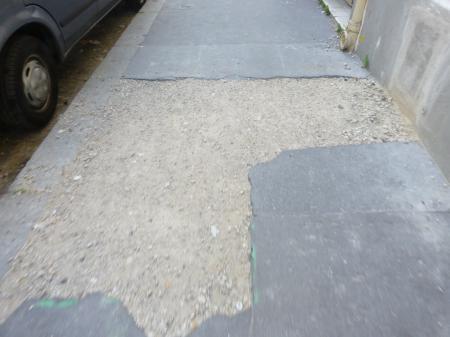 Réfection des trottoirs en souffrance